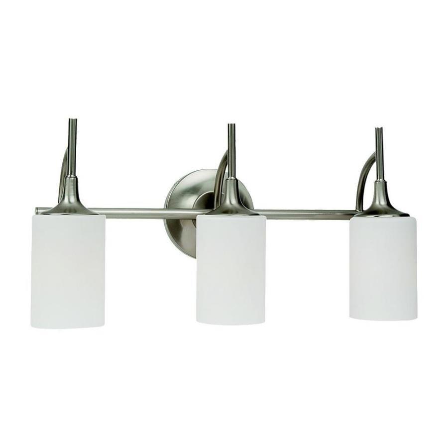 Sea Gull Lighting Stirling 3-Light Brushed Nickel Cylinder Vanity Light