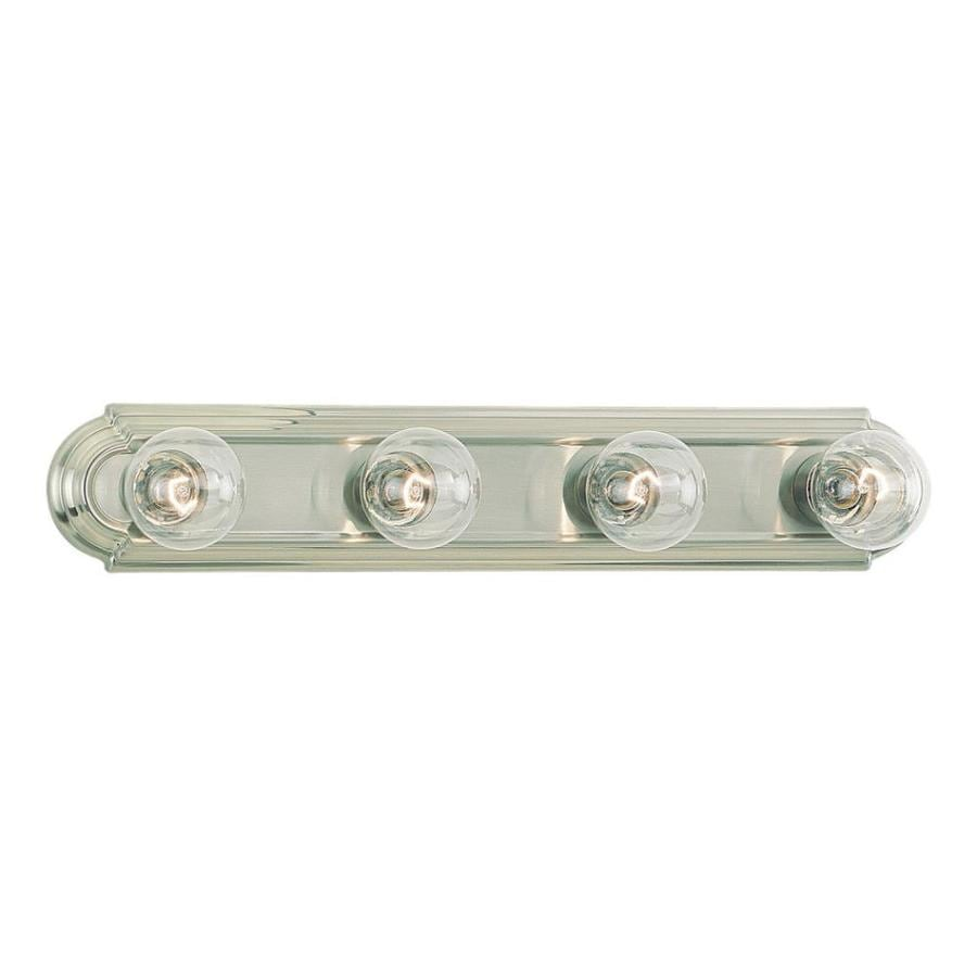 Vanity Light Bar Target : Shop Sea Gull Lighting De-Lovely 4-Light Brushed Nickel Vanity Light Bar at Lowes.com