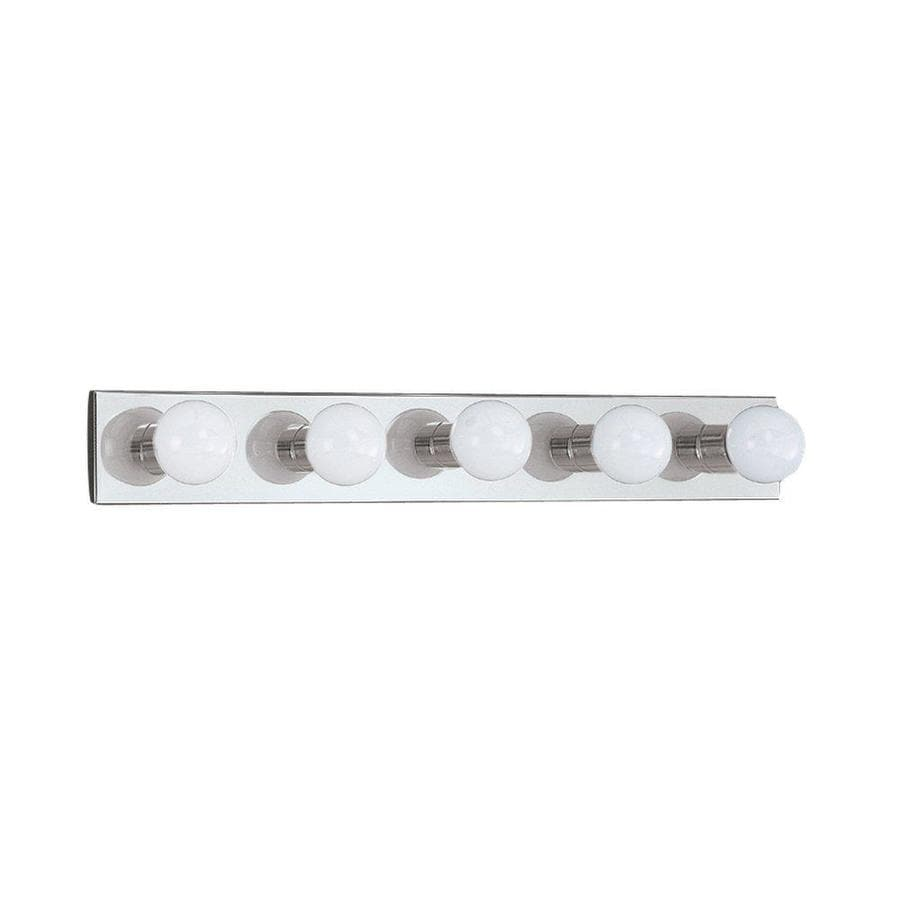 Shop Sea Gull Lighting Center Stage 5-Light Chrome Vanity Light Bar at Lowes.com