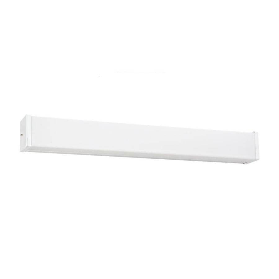 Vanity Lights White : Shop Sea Gull Lighting 1-Light White Rectangle Vanity Light Bar at Lowes.com
