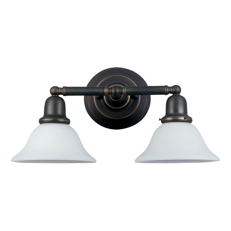 Sea Gull Lighting Sussex 2-Light Heirloom Bronze Bell Vanity Light