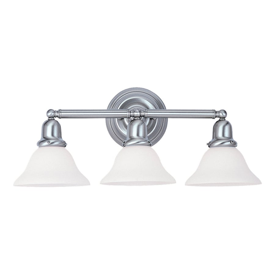 Polished Nickel Bathroom Vanity Light: Shop Sea Gull Lighting 3-Light Sussex Brushed Nickel