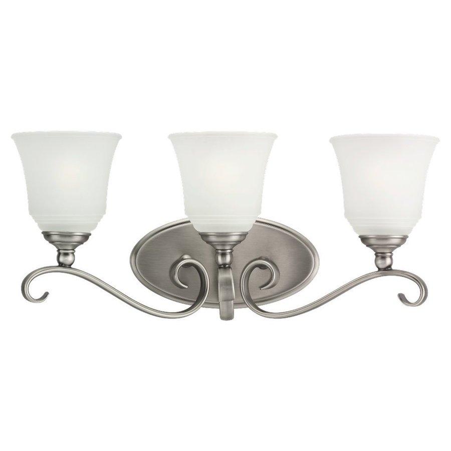 Sea Gull Lighting Parkview 3-Light Antique Brushed Nickel Bell Vanity Light