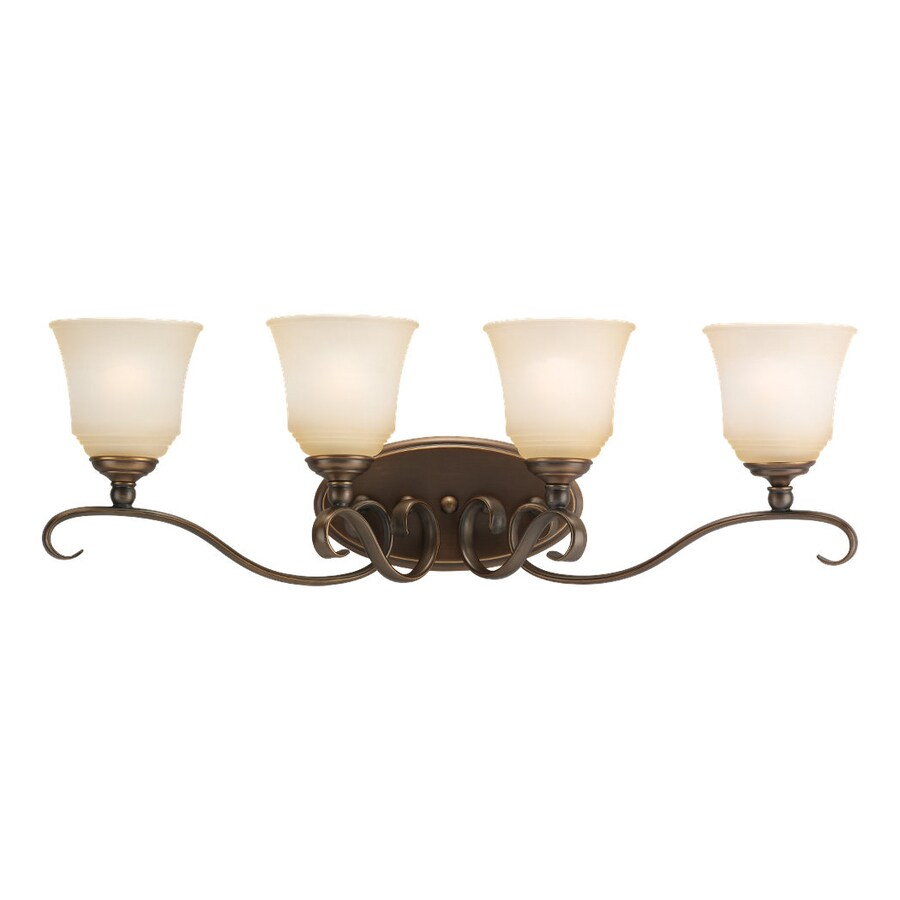 Sea Gull Lighting Parkview 4-Light Russet Bronze Bell Vanity Light