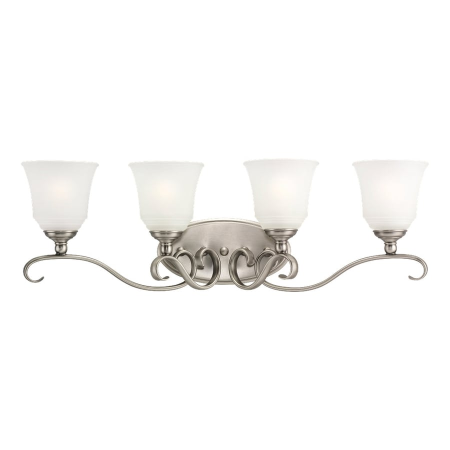 Sea Gull Lighting Parkview 4-Light Antique Brushed Nickel Bell Vanity Light