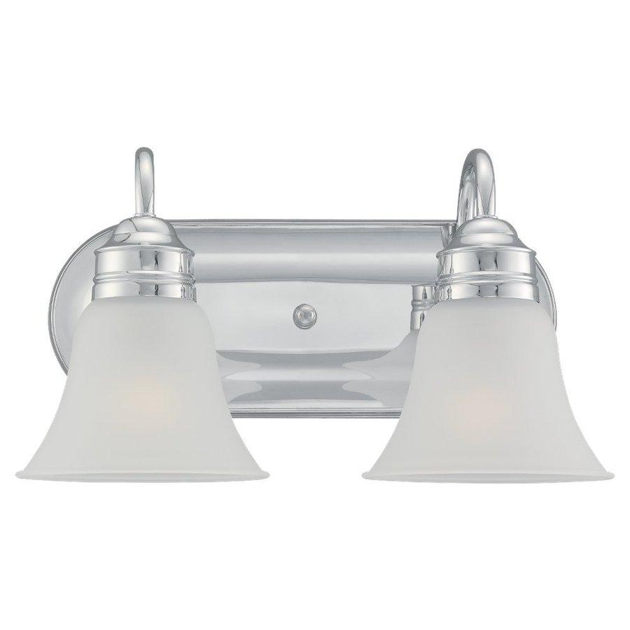 Sea Gull Lighting Gladstone 2-Light Chrome Bell Vanity Light