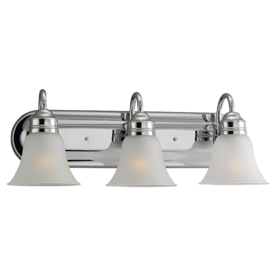 Sea Gull Lighting Gladstone 3-Light Chrome Bell Vanity Light