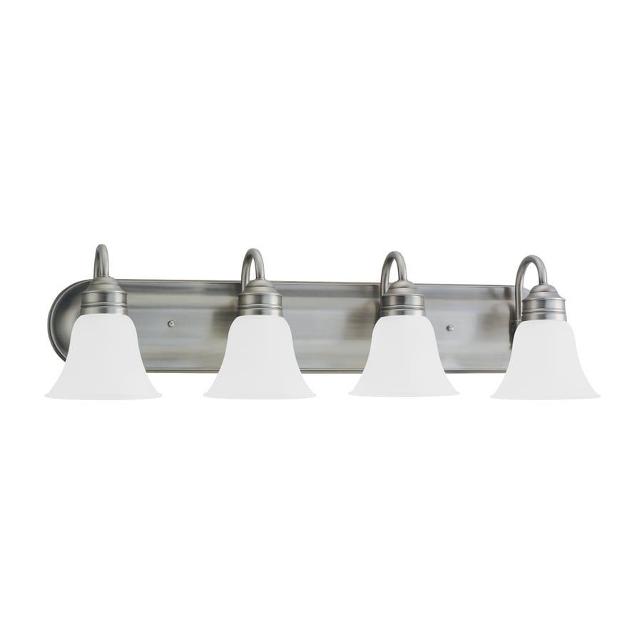 Sea Gull Lighting Gladstone 4-Light Antique Brushed Nickel Bell Vanity Light