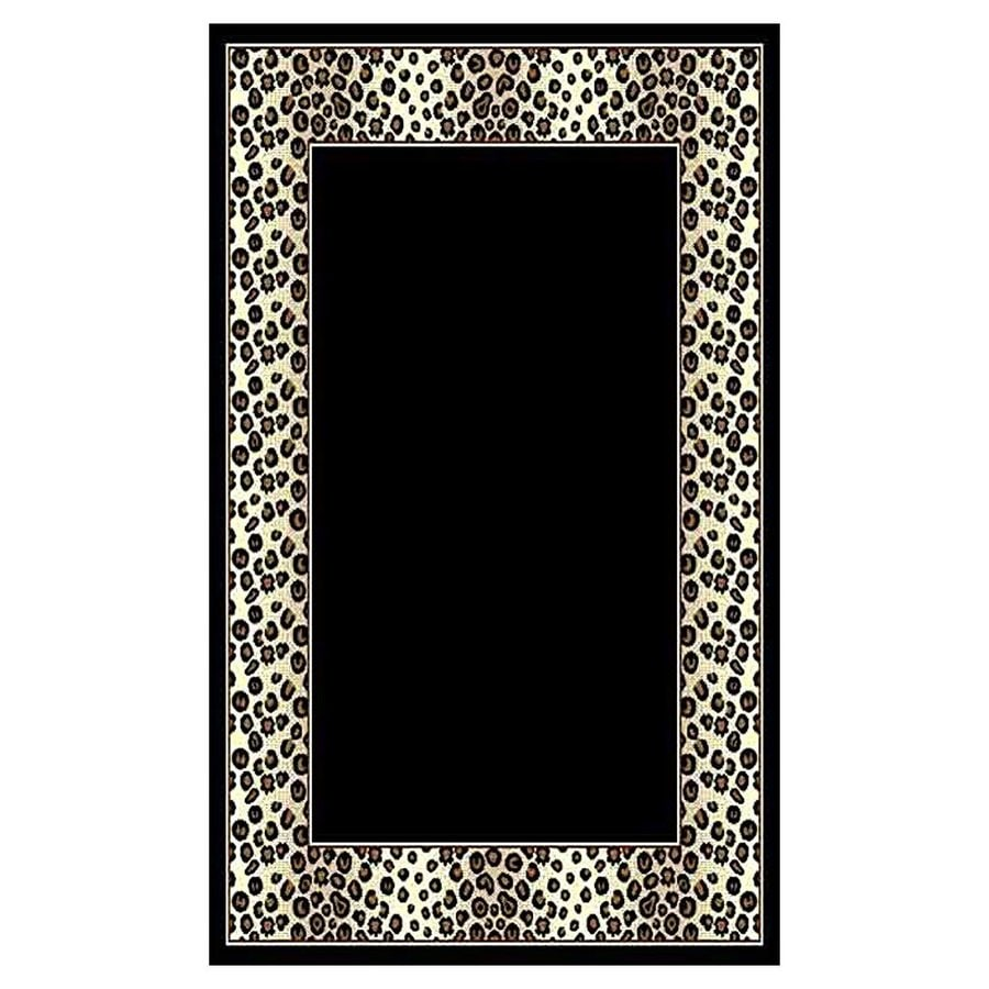 DonnieAnn African Adventure Black Rectangular Indoor Machine-Made Area Rug (Common: 5 x 7; Actual: 62-in W x 84-in L)