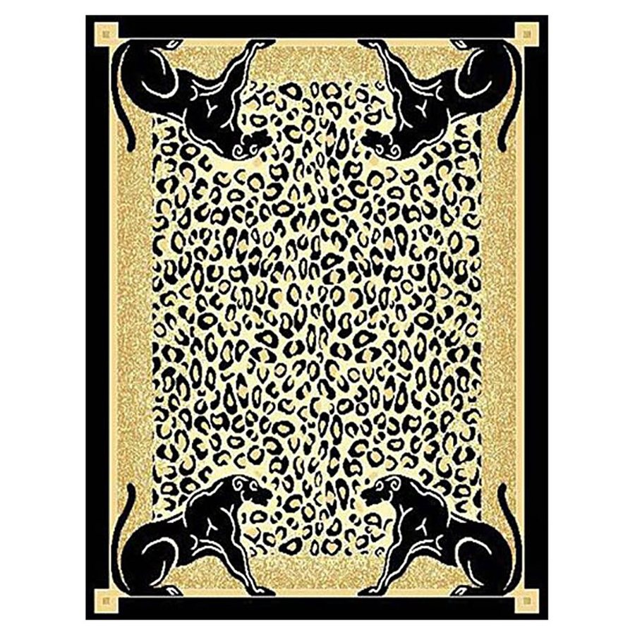 DonnieAnn African Adventure Brown Rectangular Indoor Machine-Made Safari Area Rug (Common: 5 x 7; Actual: 5.16-ft W x 7-ft L)