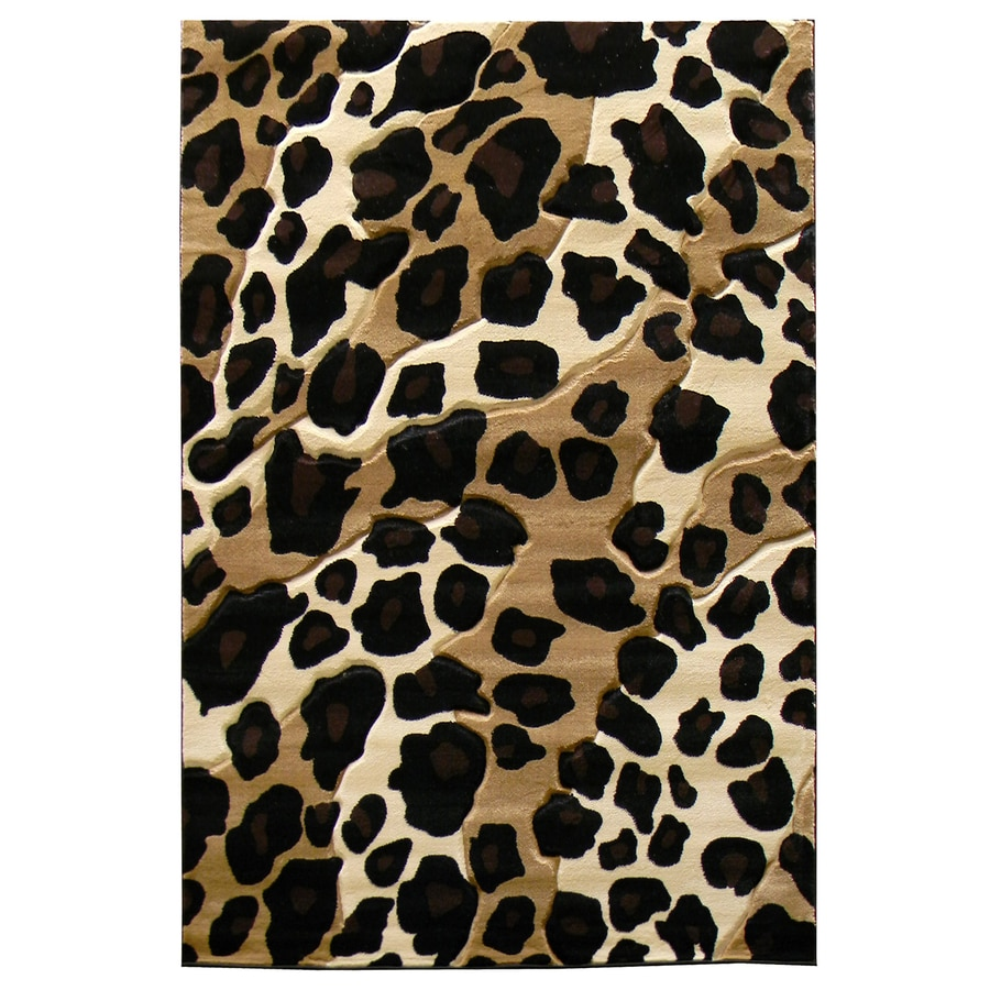 DonnieAnn Sculpture Black Rectangular Indoor Machine-Made Animals Area Rug (Common: 5 x 7; Actual: 5.16-ft W x 7-ft L)