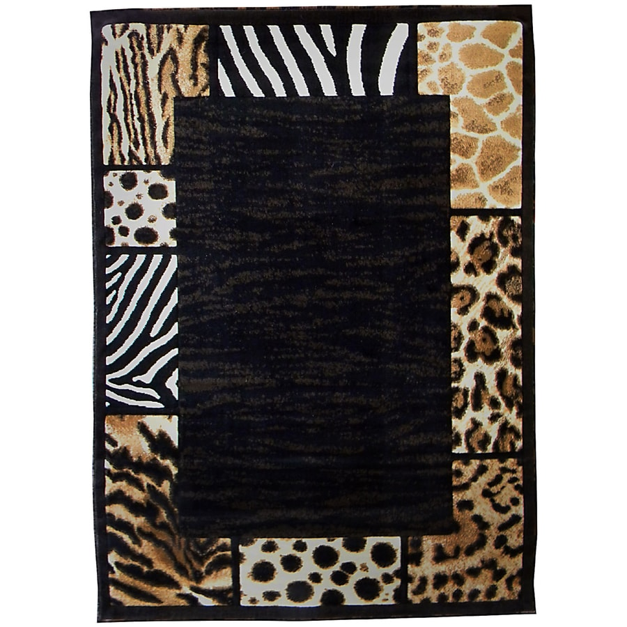 DonnieAnn Skinz Brown Rectangular Indoor Machine-Made Animals Area Rug (Common: 5 x 7; Actual: 5-ft W x 7-ft L)