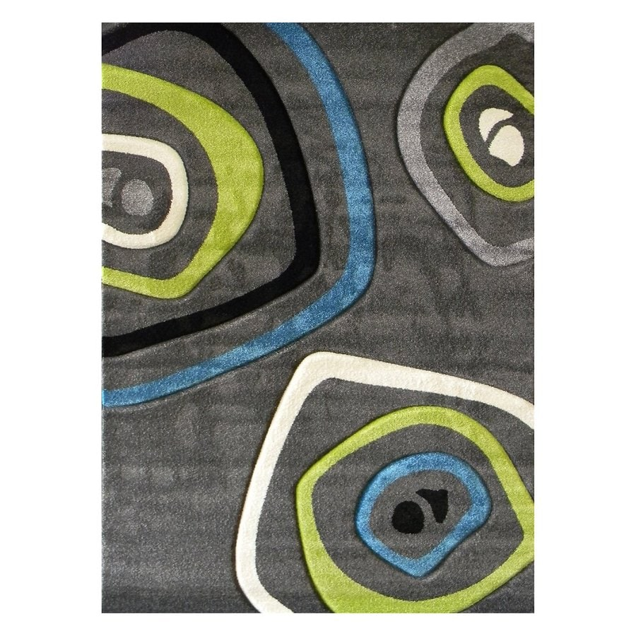 DonnieAnn Studio Design Charcoal Rectangular Indoor Machine-Made Area Rug (Common: 5 x 7; Actual: 5.16-ft W x 7-ft L)