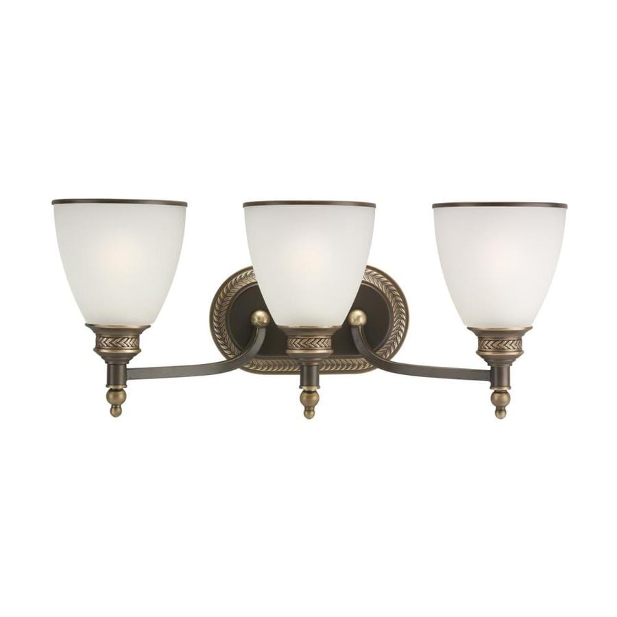Sea Gull Lighting Laurel Leaf 3-Light Estate Bronze Vanity Light