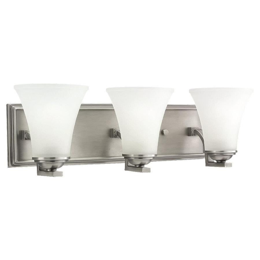 3 Light Vanity Brushed Nickel : Shop Sea Gull Lighting Somerton 3-Light Antique Brushed Nickel Bell Vanity Light at Lowes.com