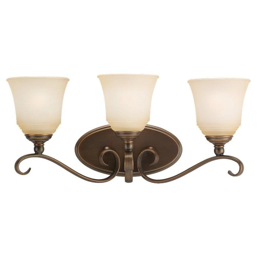 Sea Gull Lighting Parkview 3-Light 10.5-in Russet bronze Bell Vanity Light