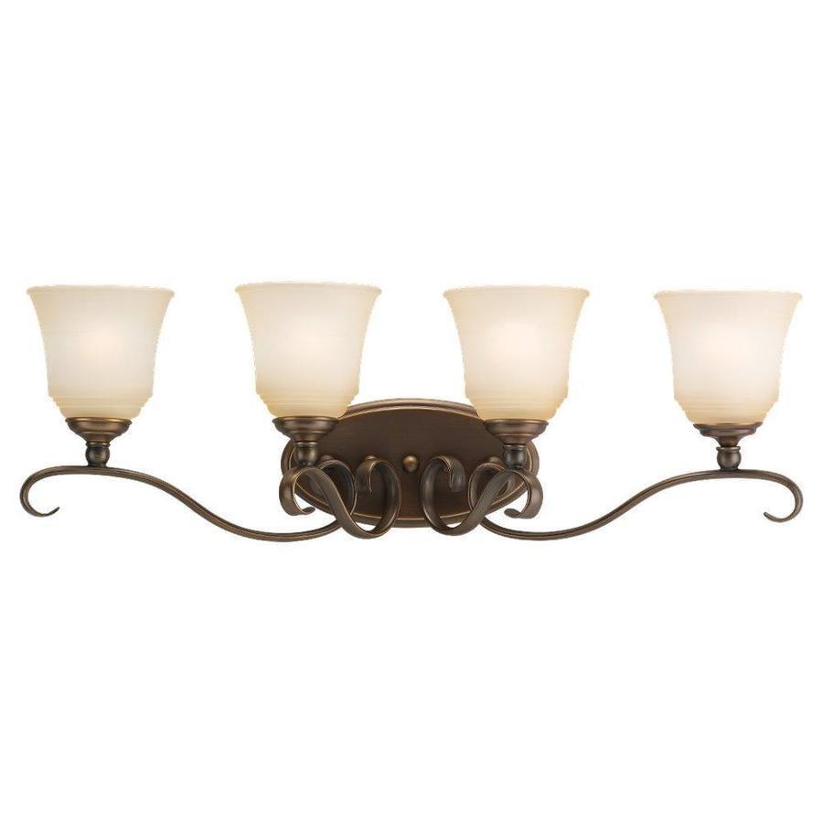 Sea Gull Lighting Parkview 4-Light Russet Bronze Bell Vanity Light
