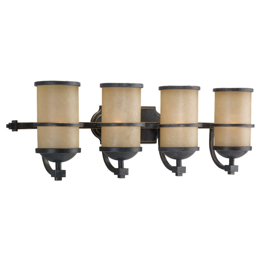 Sea Gull Lighting Roslyn 4-Light Flemish Bronze Cylinder Vanity Light