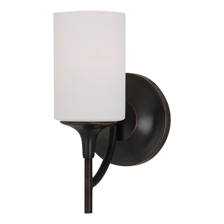 Sea Gull Lighting Stirling 1-Light 11.25-in Burnt sienna Cylinder Vanity Light