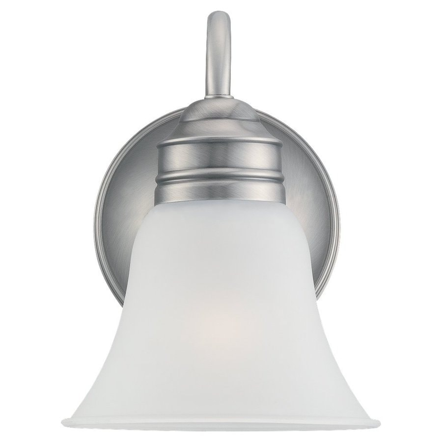 Sea Gull Lighting Gladstone 1-Light Antique Brushed Nickel Bell Vanity Light