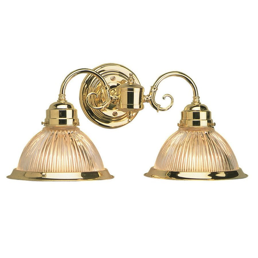 Shop Design House Millbridge 2 Light 8 3 In Polished Brass