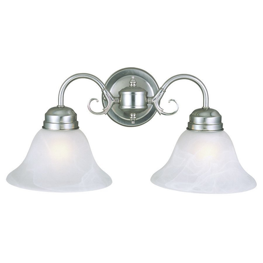 Design House Millbridge 2-Light Satin Nickel Bell Vanity Light