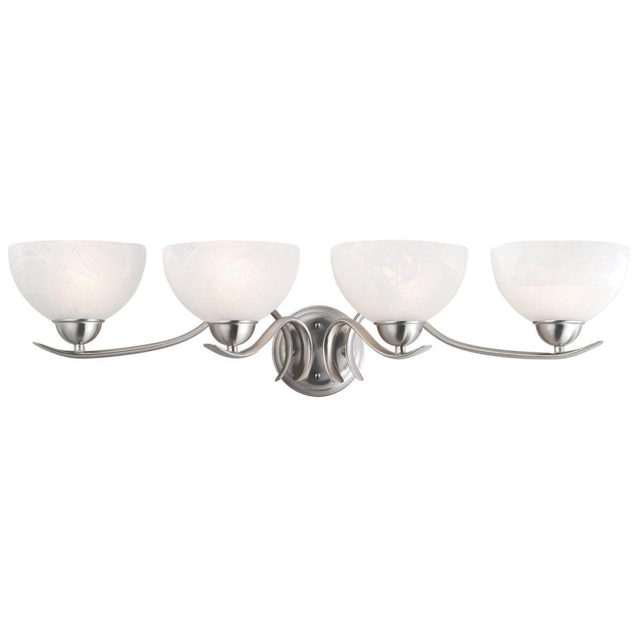 Design House Trevie 4-Light 7.8-in Satin Nickel Bowl Vanity Light