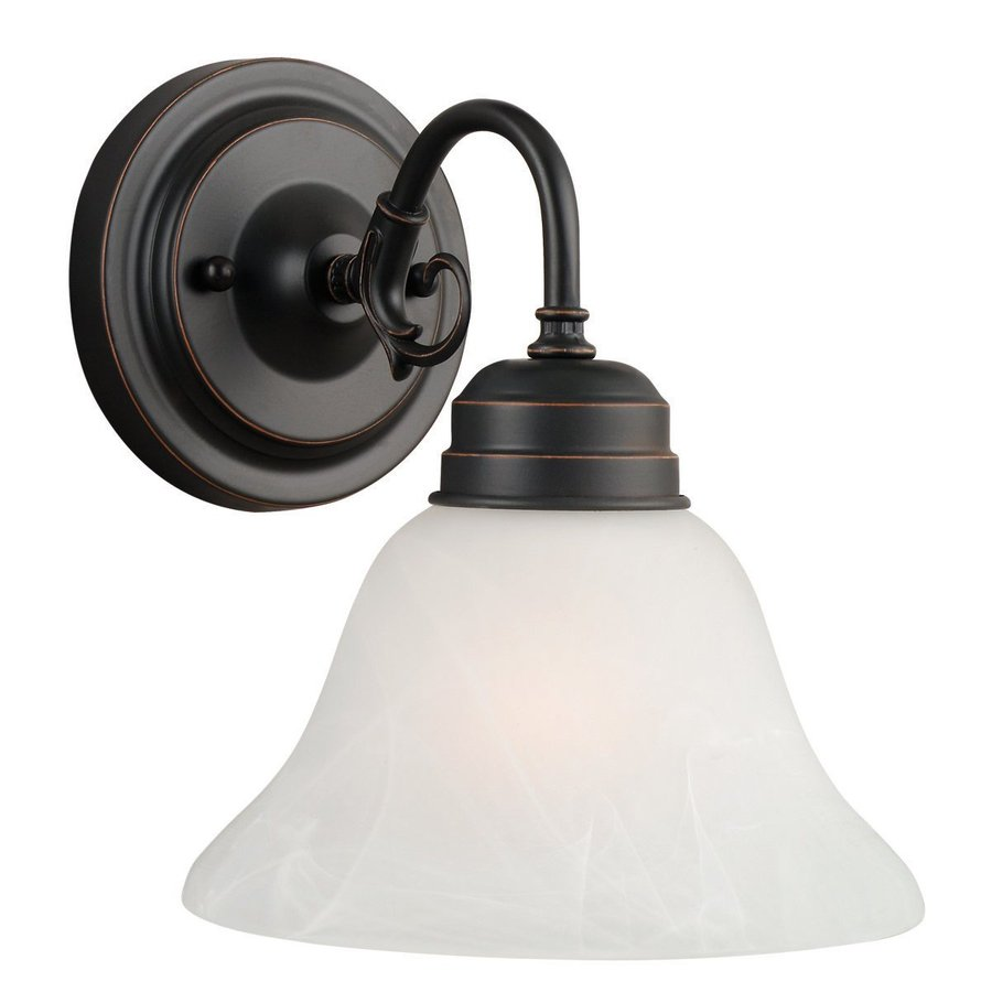Design House Millbridge 1-Light 8.875-in Oil-Rubbed Bronze Bell Vanity Light