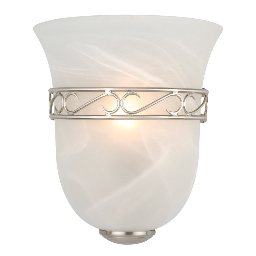 Design House Marlowe 1-Light 9.25-in Satin Nickel Urn Vanity Light