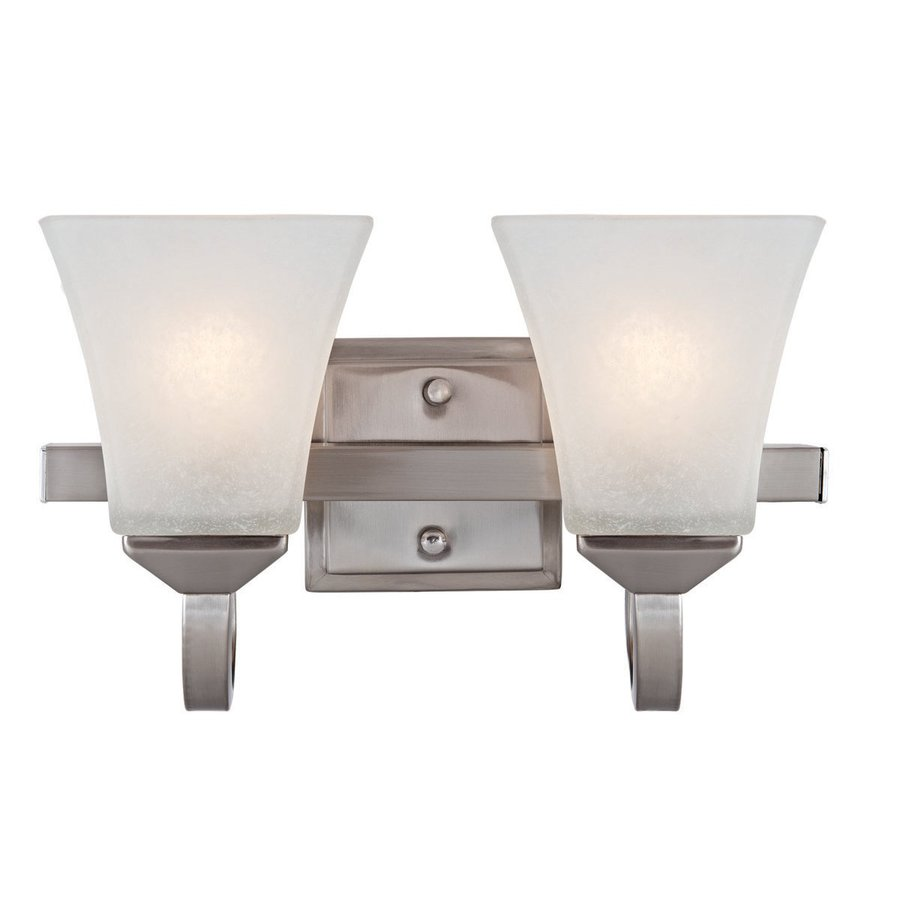 Design House Torino 2-Light Satin Nickel Square Vanity Light