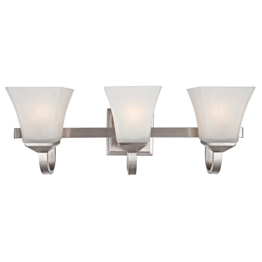 Design House Torino 3-Light 8-in Satin Nickel Square Vanity Light