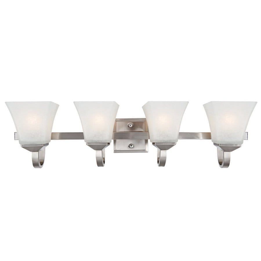 Install Vanity Light Without Electrical Box : Shop Design House Torino 4-Light 8-in Satin Nickel Square Vanity Light at Lowes.com