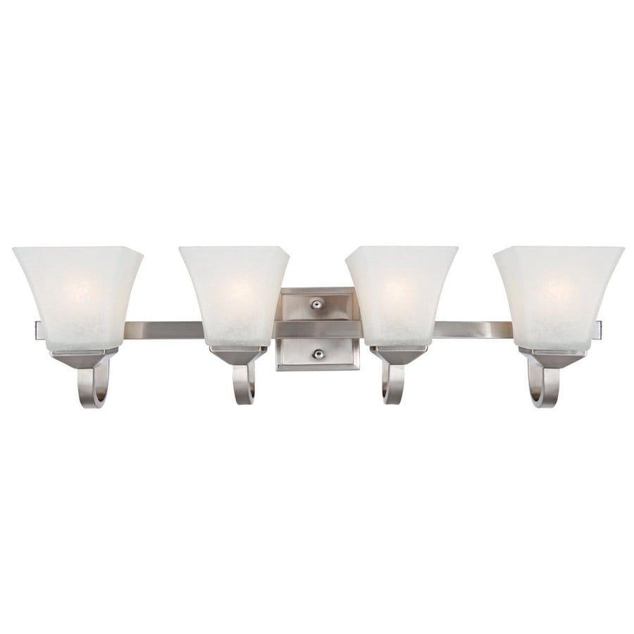 Design House Torino 4-Light 8-in Satin nickel Square Vanity Light