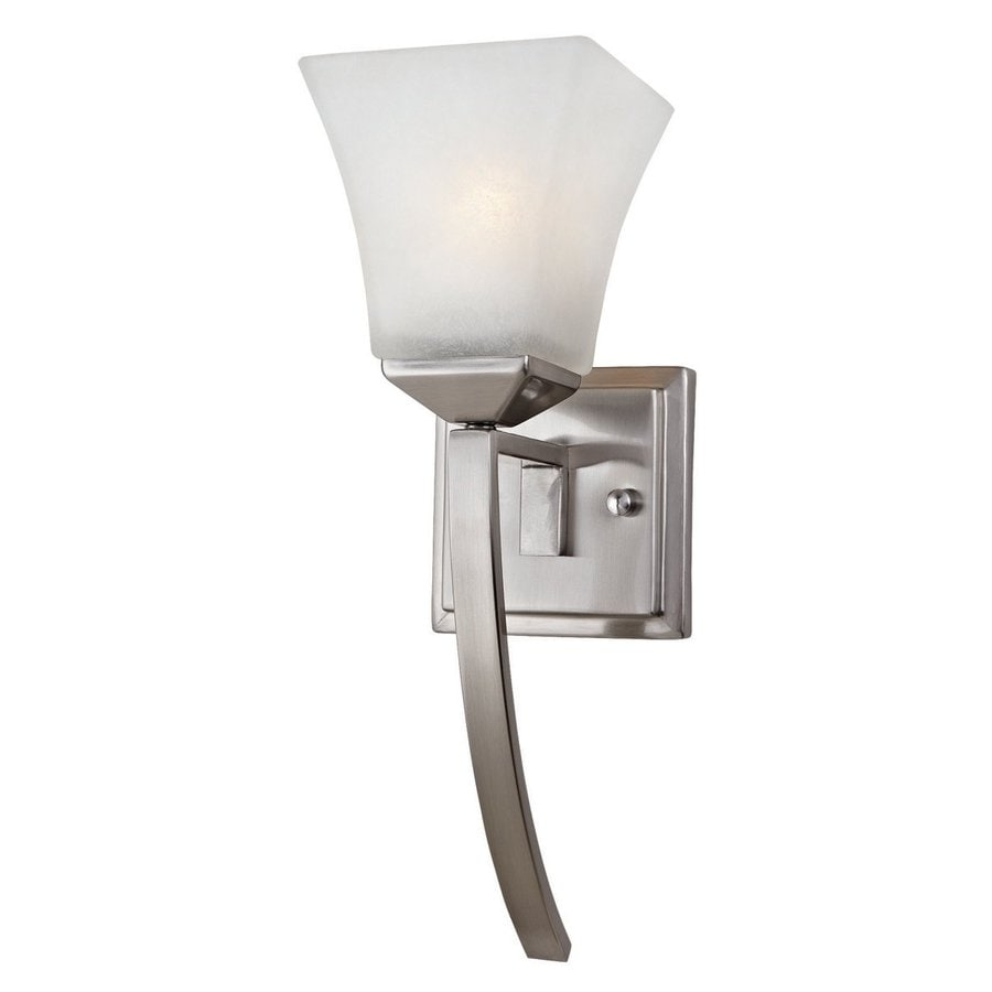 Design House Torino 1-Light 15-in Satin nickel Square Vanity Light