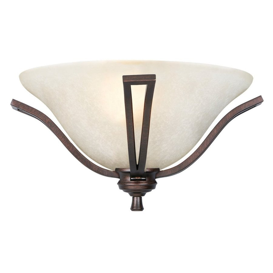 Design House Ironwood Es 1-Light 7-in Brushed Bronze Bowl Vanity Light