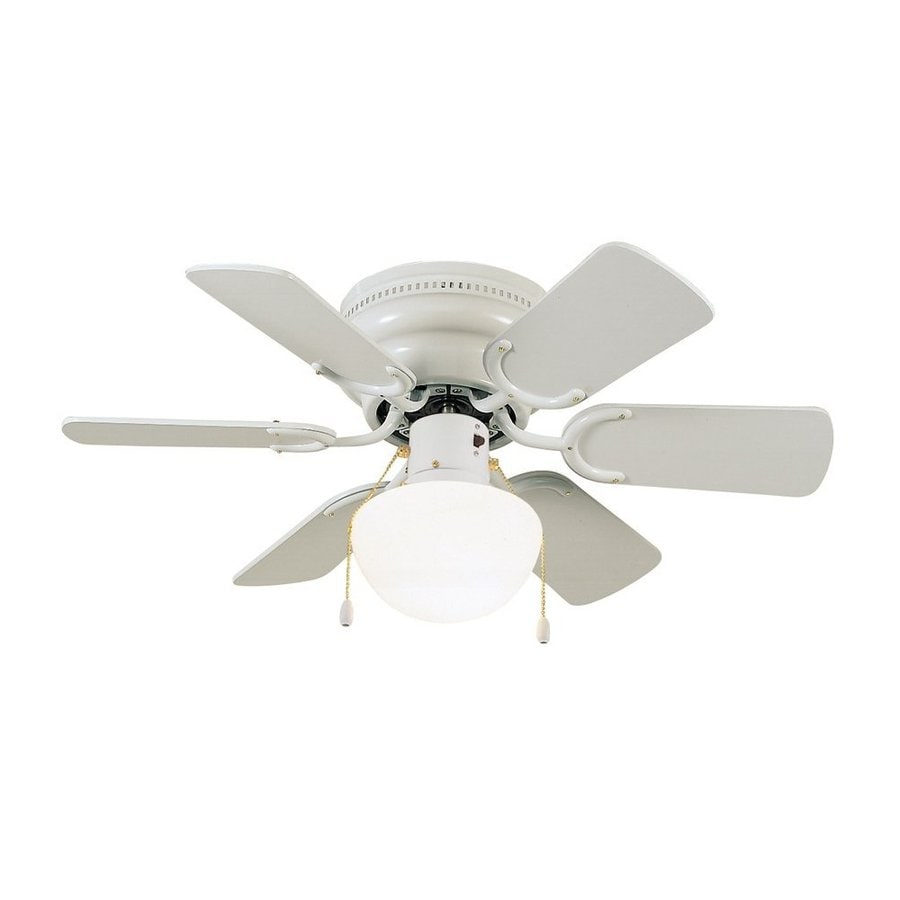 Shop design house atrium 30 in white indoor flush mount ceiling fan design house atrium 30 in white indoor flush mount ceiling fan with light kit aloadofball Images