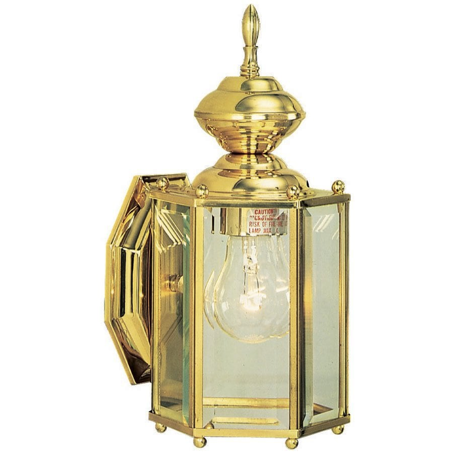 Design House Augusta 10.38-in H Polished Brass Medium Base (E-26) Outdoor Wall Light