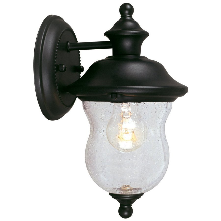 Design House Highland 10.625-in H Black Outdoor Wall Light