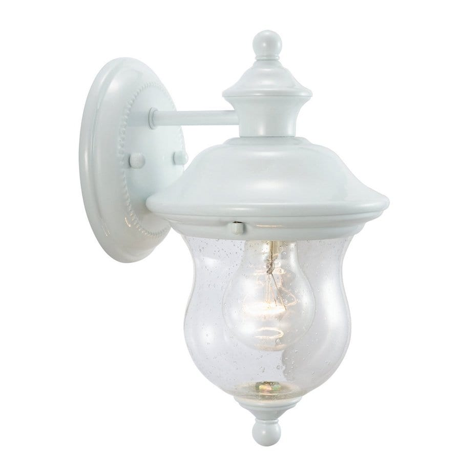 Design House Highland 10.625-in H White Outdoor Wall Light