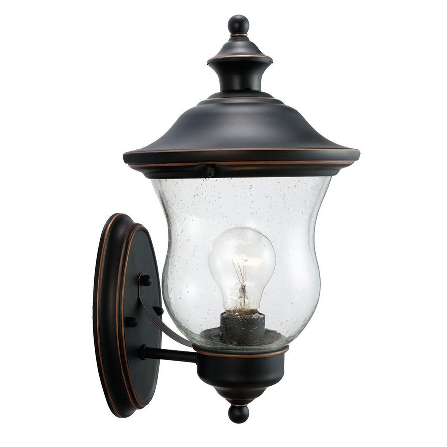 Design House Highland 13-in H Oil-Rubbed Bronze Outdoor Wall Light