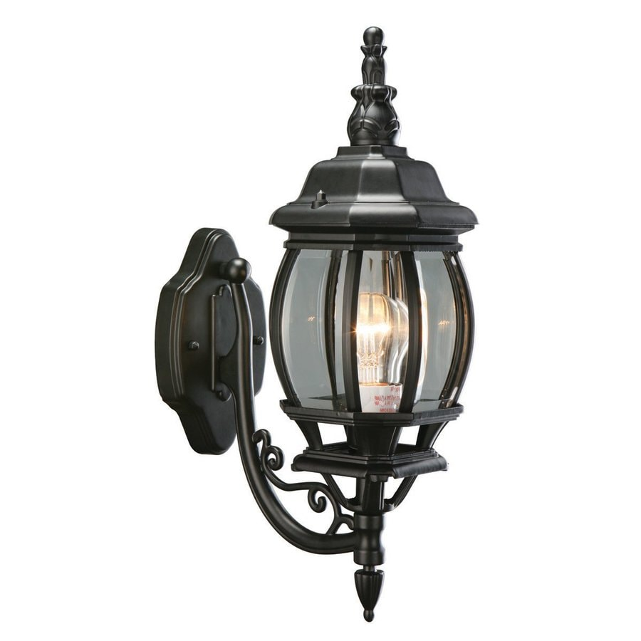 Design House Canterbury 20.5-in H Black Outdoor Wall Light