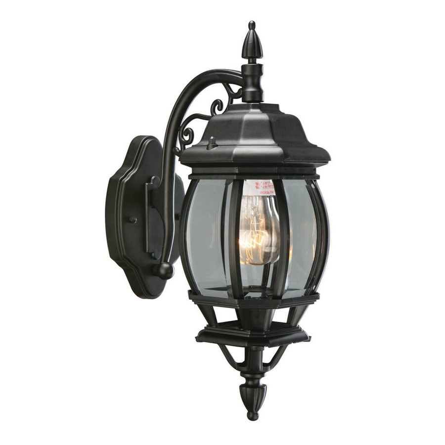Design House Canterbury 17-in H Black Outdoor Wall Light