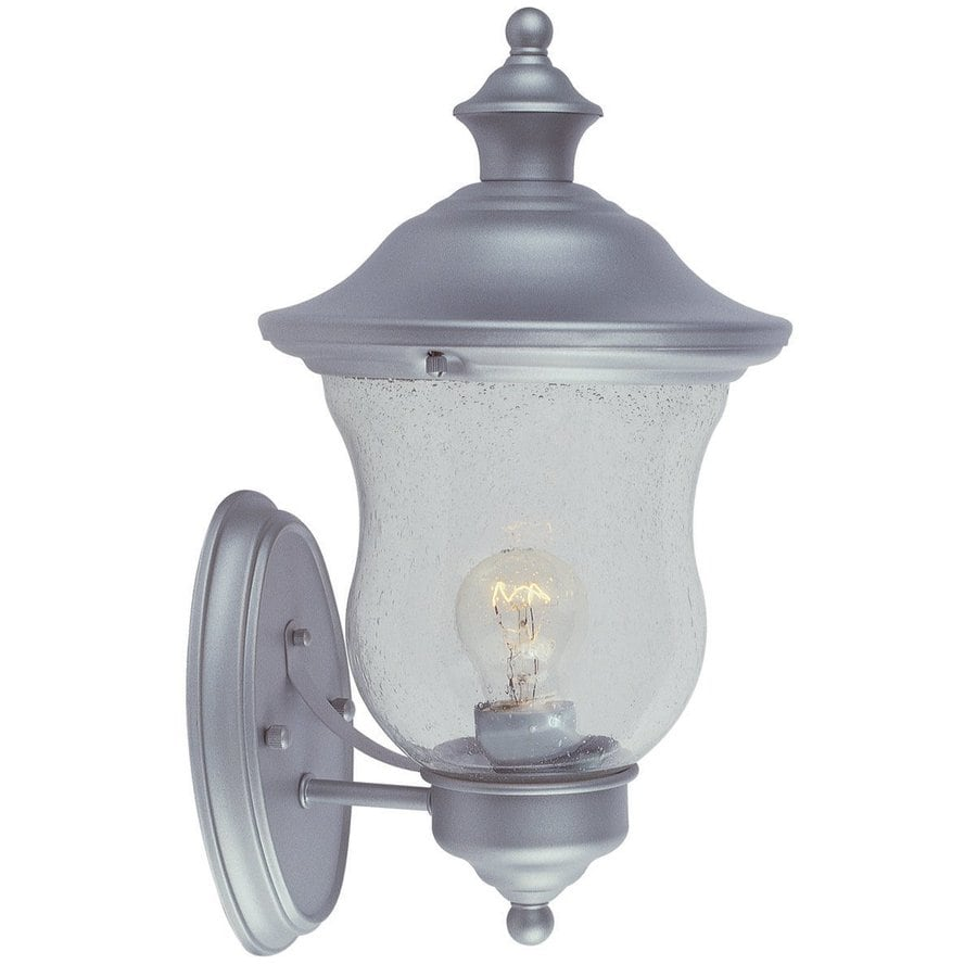 Design House Highland 13-in H Heritage Silver Outdoor Wall Light