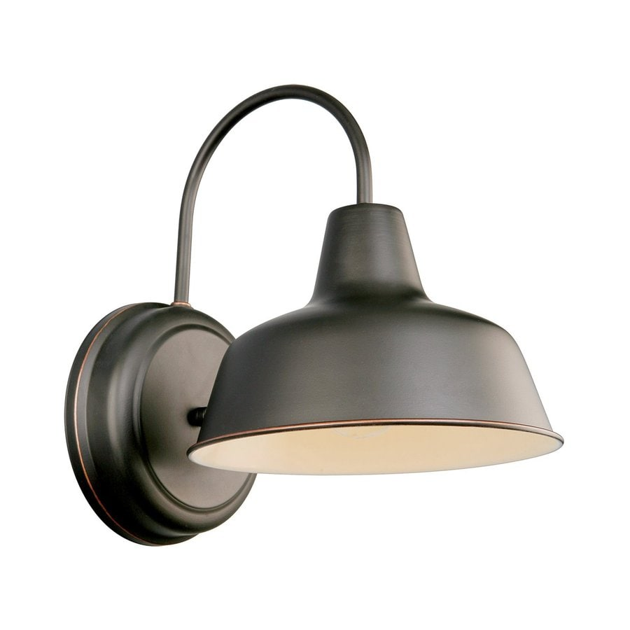 shop design house mason 11 in h oil rubbed bronze dark sky medium base e 26 outdoor wall light