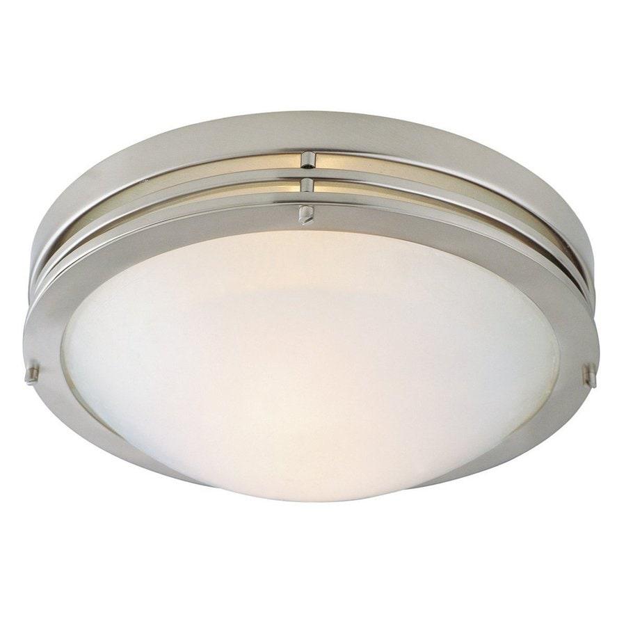 Design House 13.375-in W Satin Nickel Ceiling Flush Mount Light