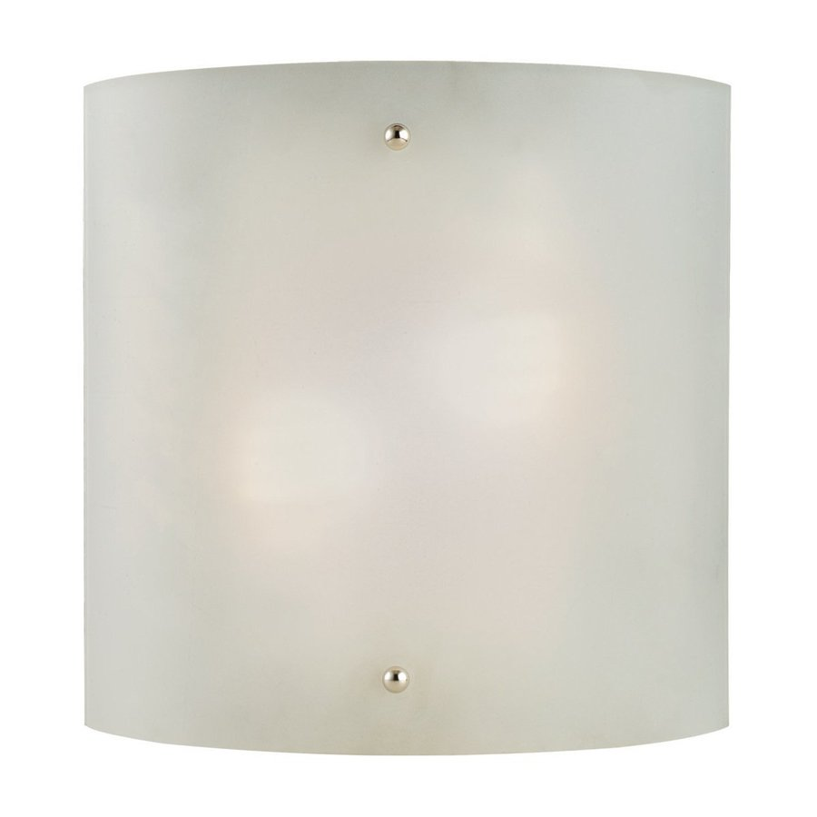 Design House Weston 10-in W 1-Light Satin Nickel Pocket Hardwired Wall Sconce