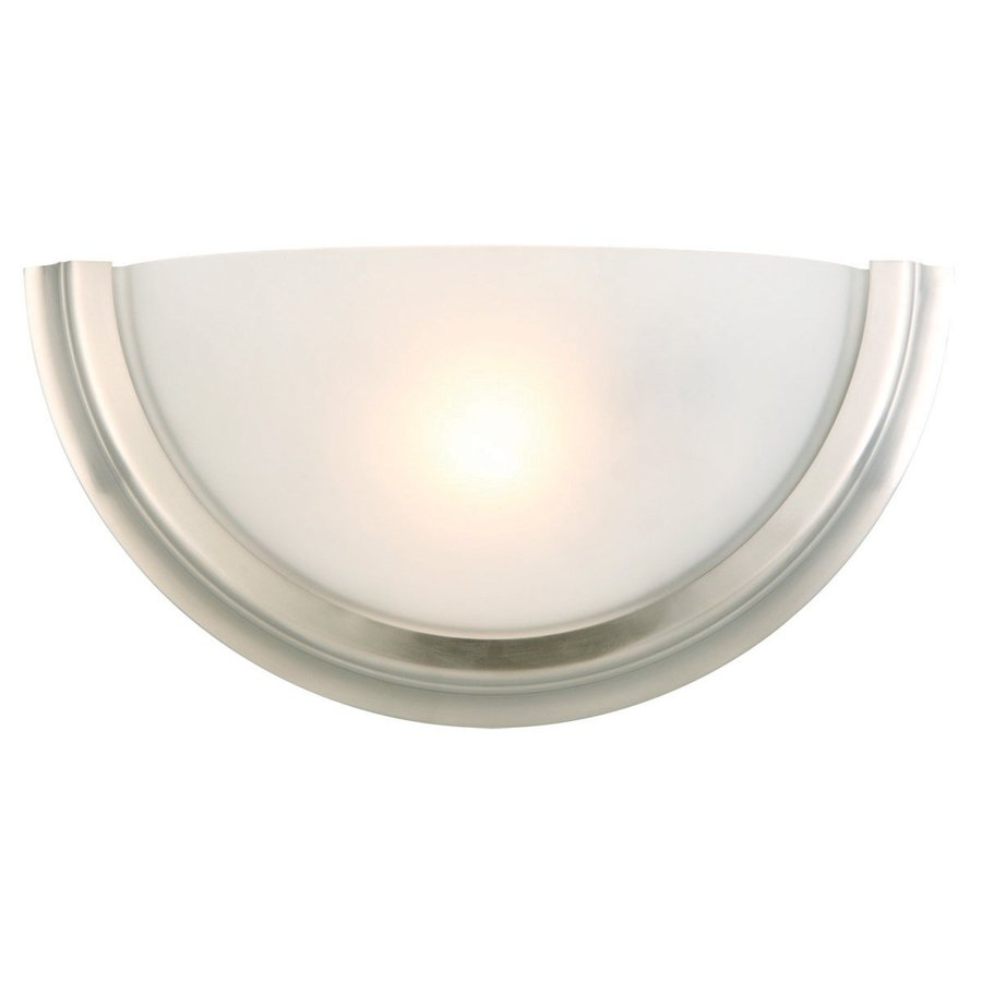 Design House Fairfax 11.25-in W 1-Light Satin Nickel Pocket Wall Sconce