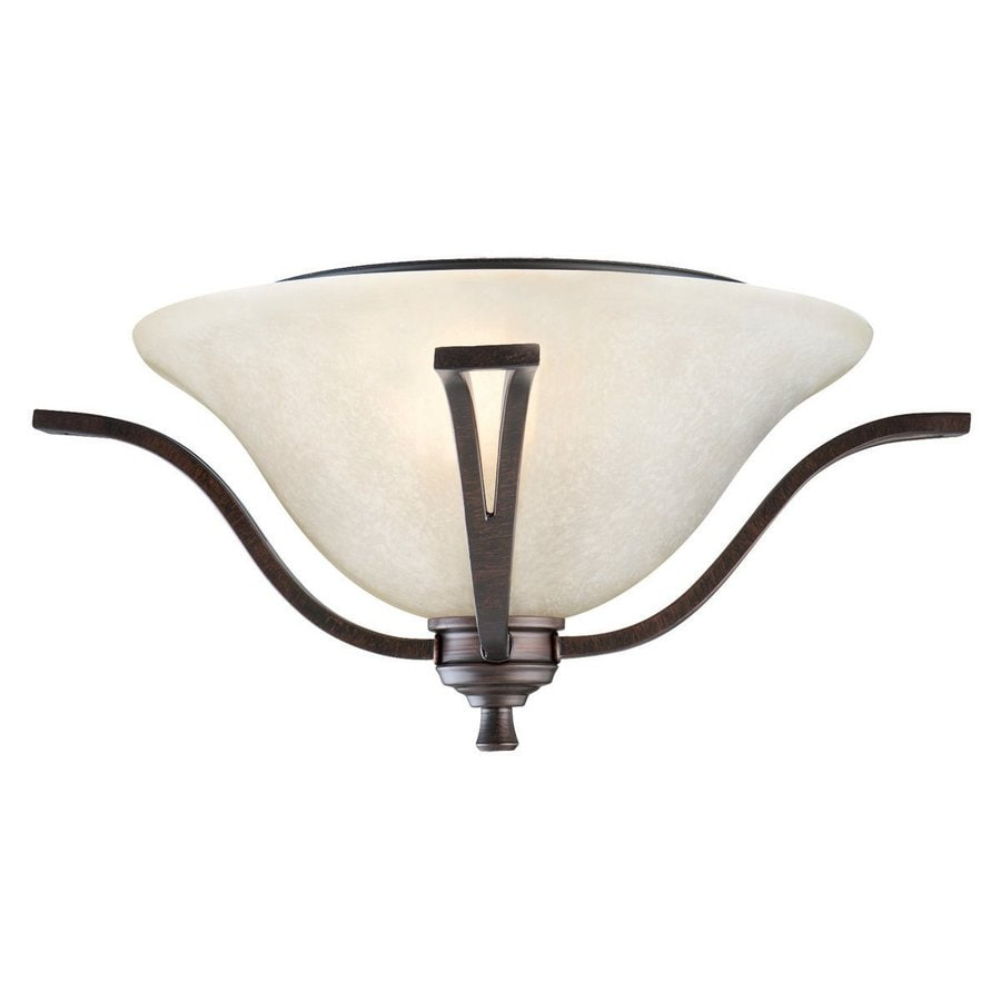 Design House Ironwood 16.75-in W Brushed bronze Flush Mount Light
