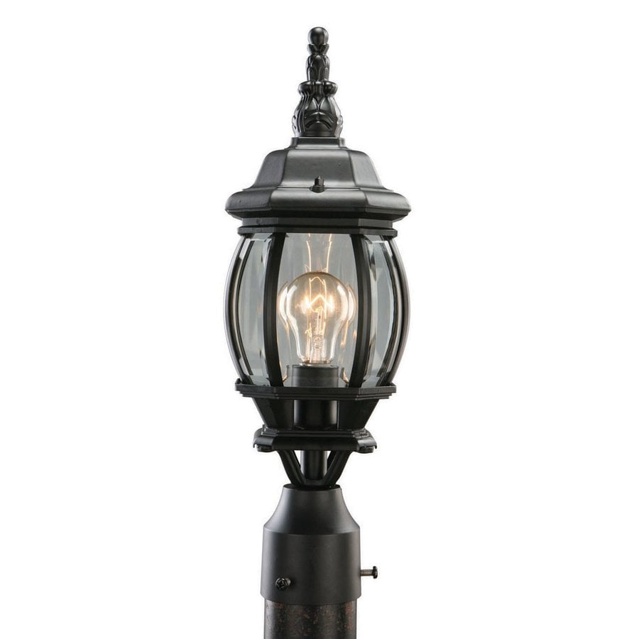 Design House Canterbury 18.5-in H Black Post Light