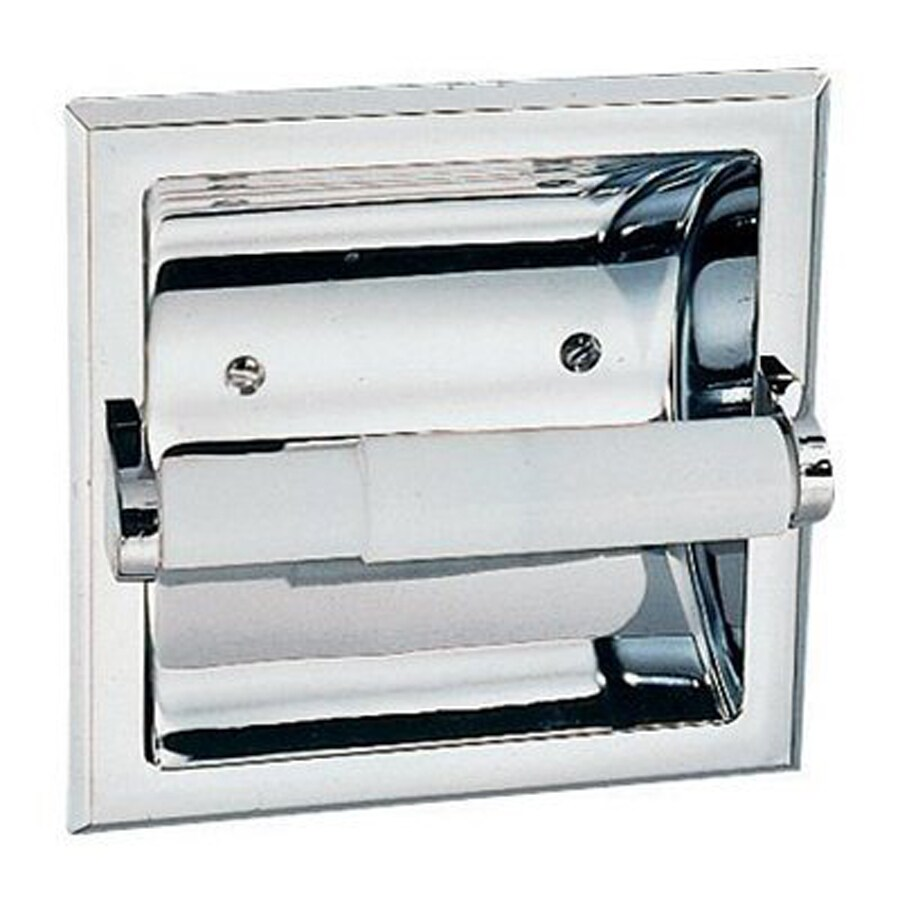Design House Millbridge Polished Chrome Recessed Toilet Paper Holder